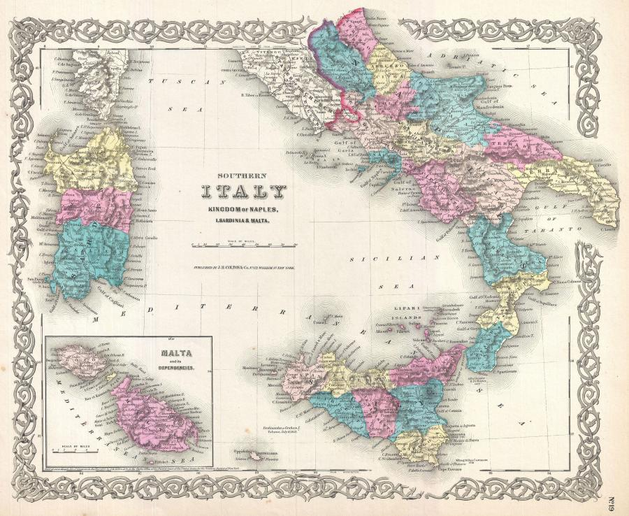 1855_coltons_map_of_southern_italy_sicily_sardinia_and_malta_-_geographicus_-_italysouth-colton-1855